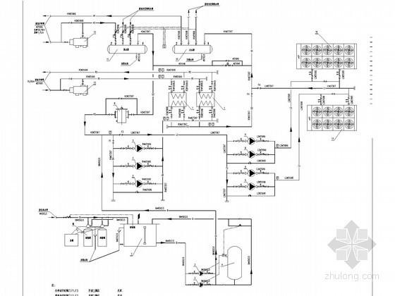[西藏]文化体育中心冷冻站及换热站系统设计施工图