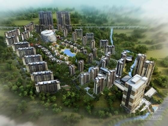 [安徽]大型商业住宅区规划及单体设计方案文本(含cad)