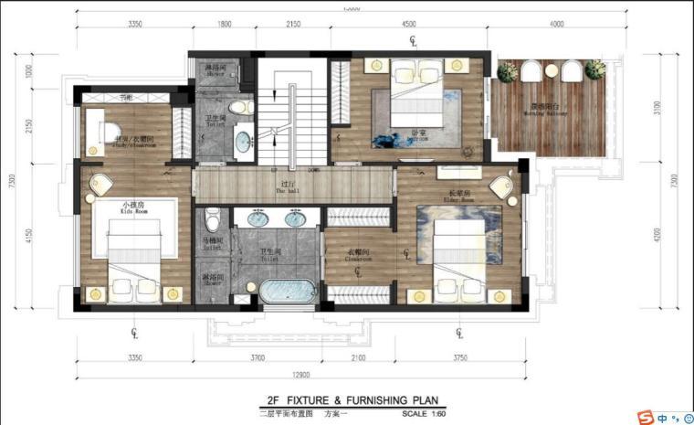 [佛山]知名设计新中式与现代简约别墅样板房设计施工图(含实景图_4