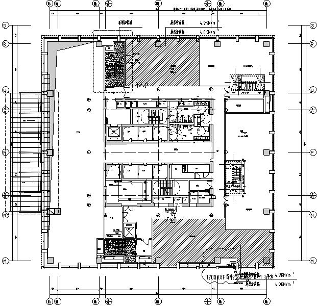 天津大型商业广场商业办公楼二次出图电气施工图