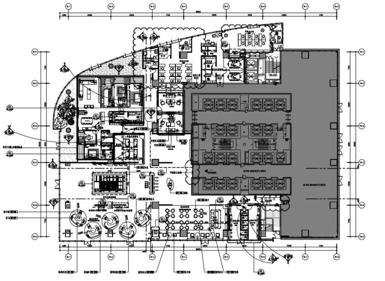 华润展示中心装修施工图+室内设计方案+物料表