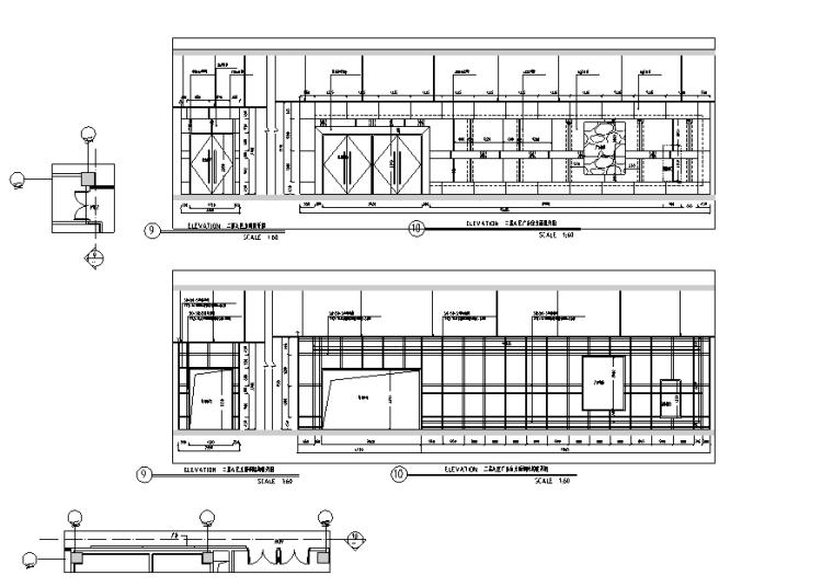 万达广场购物中心室内设计施工图(附效果图)-立面图