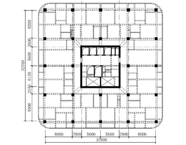 8度区b级高度框架-核心筒结构抗震设计探讨图片