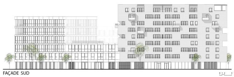Faáade_SUD_-_ZAC_Cartoucherie_-_◊lot_1.3_-_Taillandier_Architectes_AssociÇs