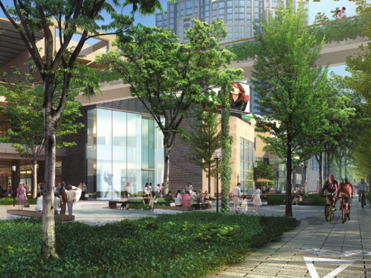 [上海]瑞虹路街道景观(城市森林,商业花园)
