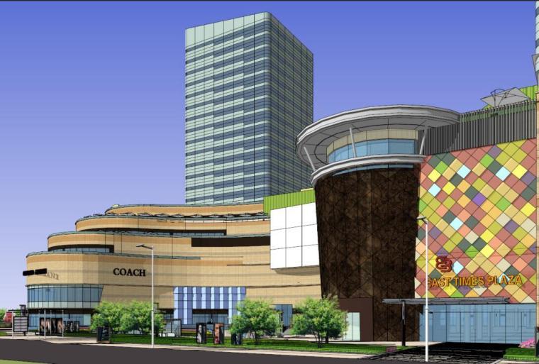 东方时代广场商业综合体建筑模型设计