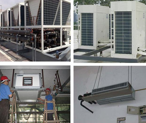 VRV中央空调系统施工资料资料下载-中央空调安装流程和说明