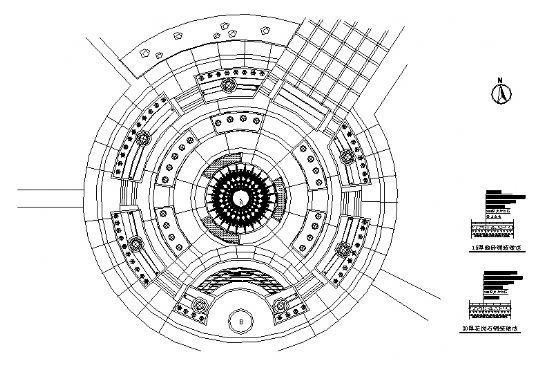 中心广场铺装平面图-4
