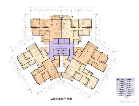 [广州]某商住小区建筑户型方案