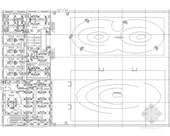 小型住宅区游泳馆场地空调系统设计施工图