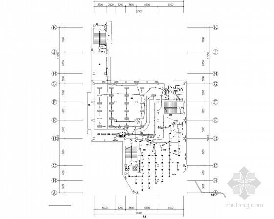 [重庆]大学食堂改建工程强电施工图(15年最新设计)