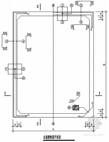 [广东]钢筋混凝土框架住宅水箱及爬梯节点构造详图