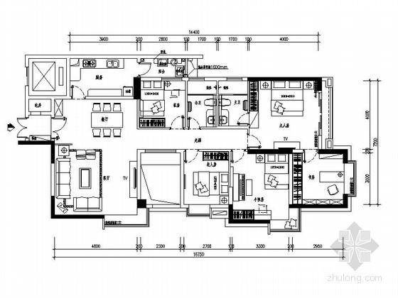 [广州]现代五居室家居设计装修图(含效果)