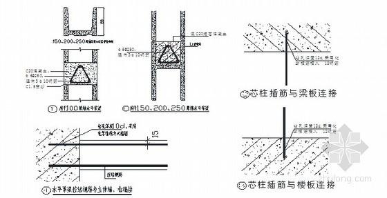 BM轻集料隔墙连锁砌块施工技术交底(节点图)