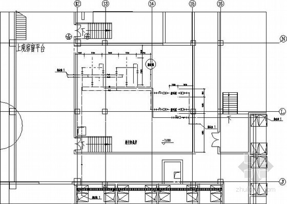 热交换器机房平面详图