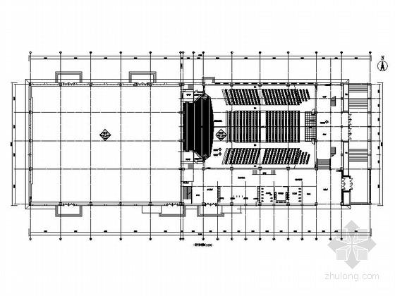 [黑龙江]重点大学文体活动中心训练馆装饰室内CAD装修施工图(含实景图)