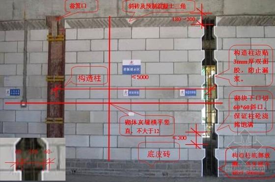 建筑工程加气混凝土砌块施工标准做法(图文解说)