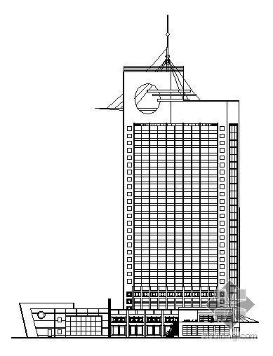 某二十八层宾馆综合楼建筑方案图