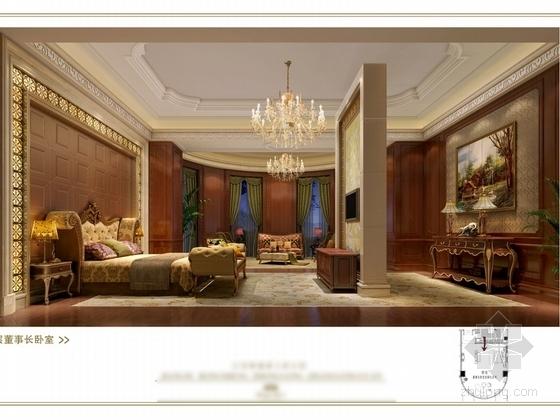 [苏州]奢华欧式风格商务会所六层董事区室内装修图(含效果) 卧室效果