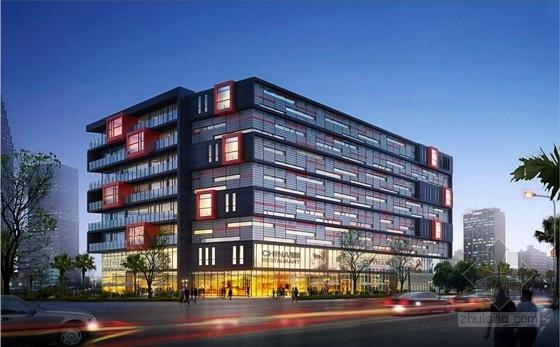 [安徽]七层开放抒情性办公综合体建筑设计方案文本