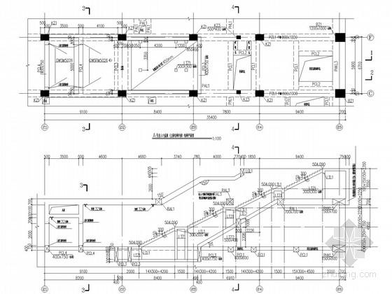 二层三跨箱形框架结构岛式地铁车站结构图(2013.10月,85张)