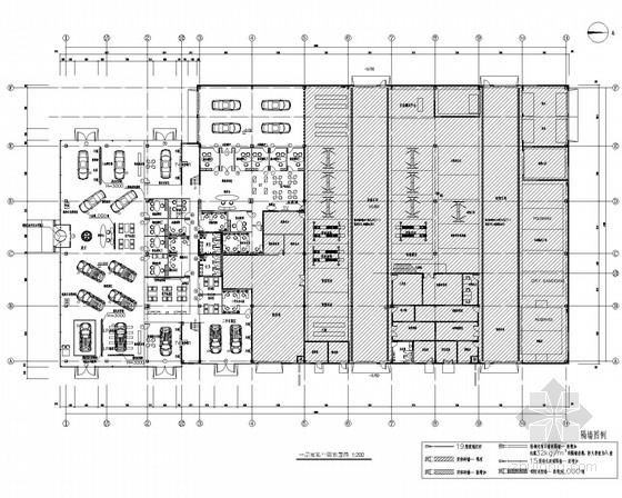 [内蒙古]乌梅4S店面销售服务装修CAD施工图(含效果图及实景图)