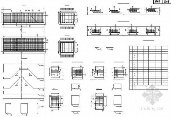 混凝土肋板式桥台盖梁钢筋布置节点详图设计