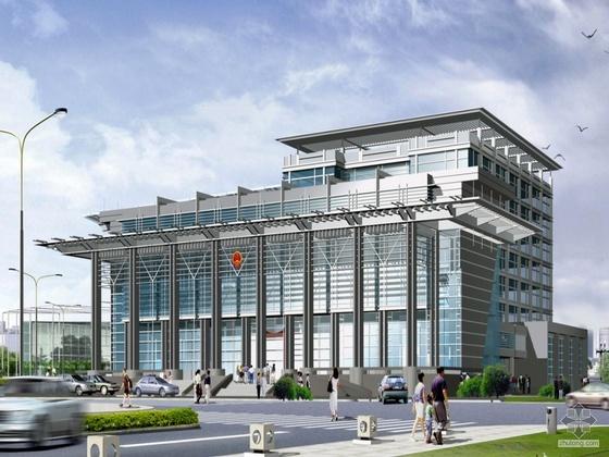 [泰州海陵区]某法院建筑设计方案图