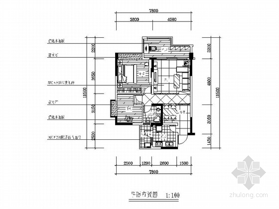 [成都]某简约两室两厅装修图