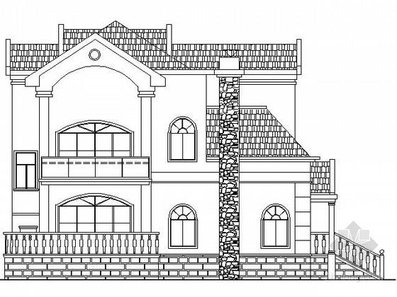 某二层欧式独栋别墅建筑施工图(300平方米)