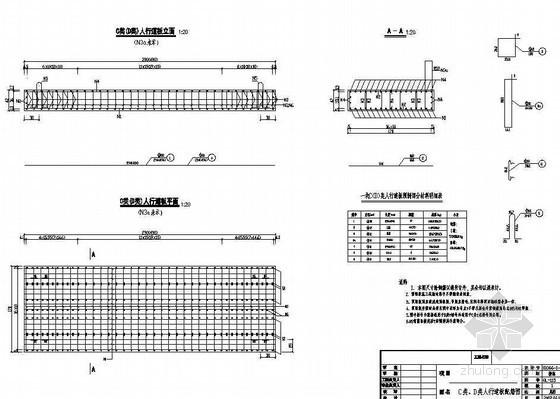 380m中承式钢管混凝土系杆拱桥人行道板配筋节点详图设计