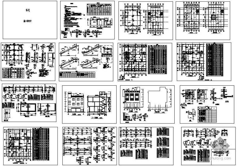 某私人住宅建筑结构设计图