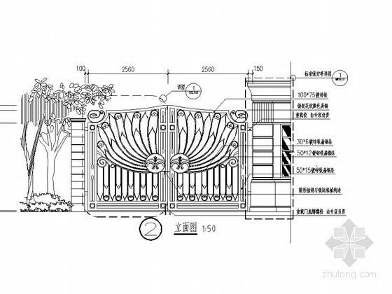 铁艺大门施工图