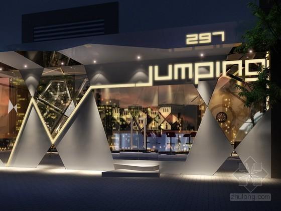 酒吧外立面3d模型下载