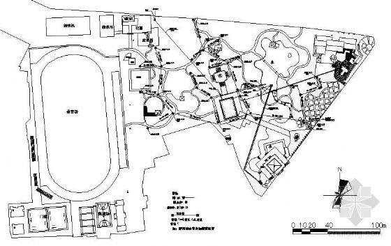 某市公园给排水设计详图