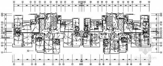 [淮北]32层单元式住宅楼全套电气施工图