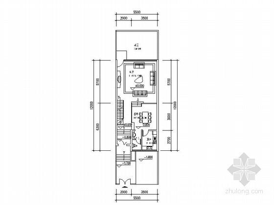 两套三层坡地联排别墅户型图(含半地下室)