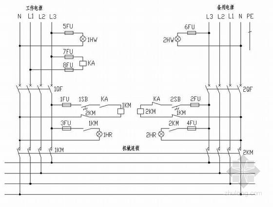 双电源自投二次原理设计图