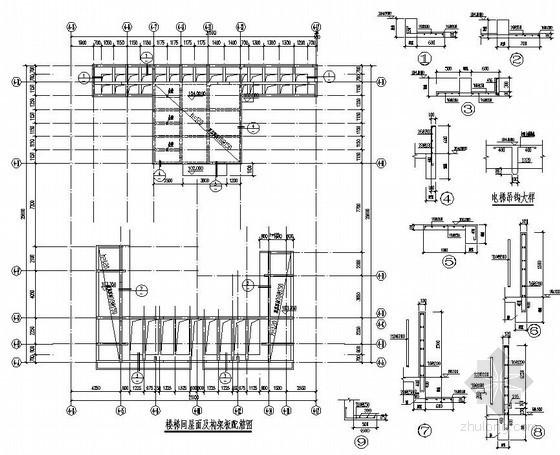 某高层(33层)的屋面构架配筋图