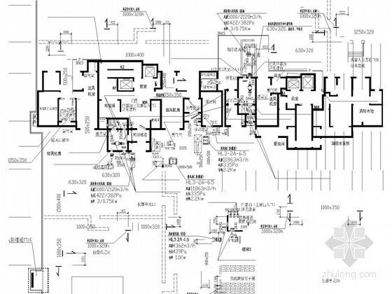 [山东]住宅项目地下汽车库人防工程系统设计施工图
