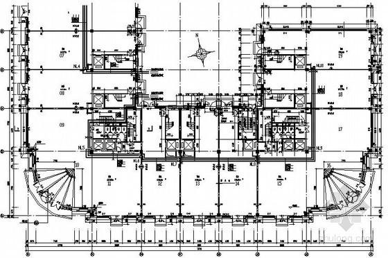 国际商城地热采暖设计施工图