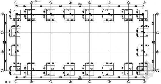 某钢结构工业厂房结构图纸
