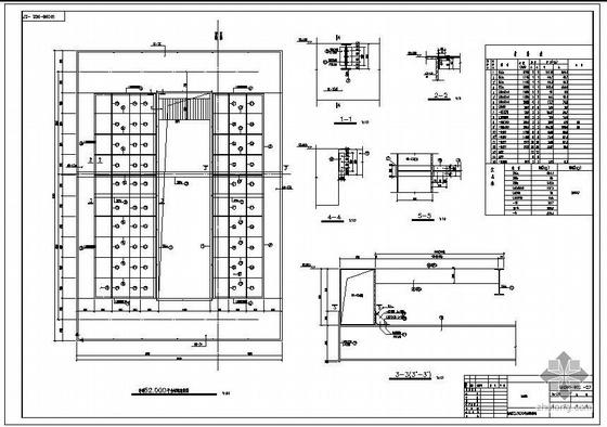 某矿山主井井架结构设计施工图