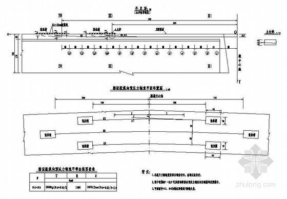 30mT梁上部行车道板预应力钢束布置节点详图设计