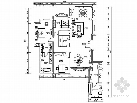 [上海]某奢华欧式三室两厅装修图(含效果)