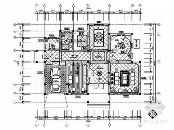 [合肥]简欧温馨4居室2层中型别墅室内设计施工图