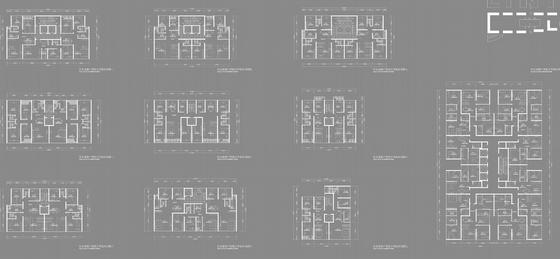 现代风格商务住宅楼户型图