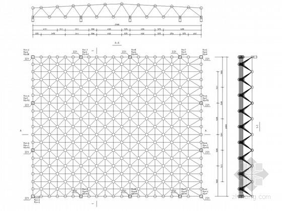 老年活动中心报告厅双层网架结构施工图