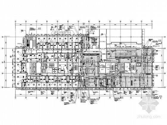 [成都]甲A级写字楼空调设计平面图
