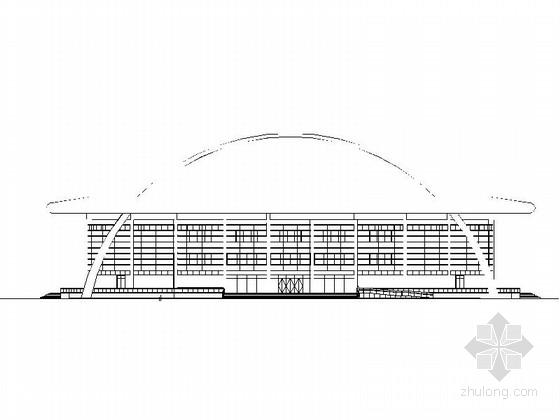 [河南]大型体育中心网球场建筑施工图(国内顶尖设计院)
